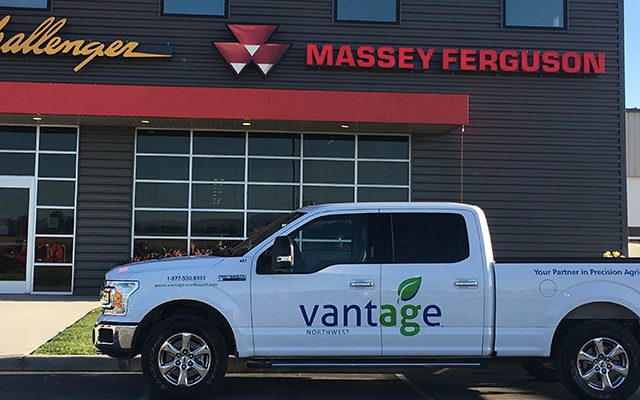 Vantage-Northwest building exterior and branded pickup truck